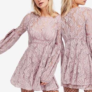 Free People Dresses - Mauve Free People Lace illusions Dress